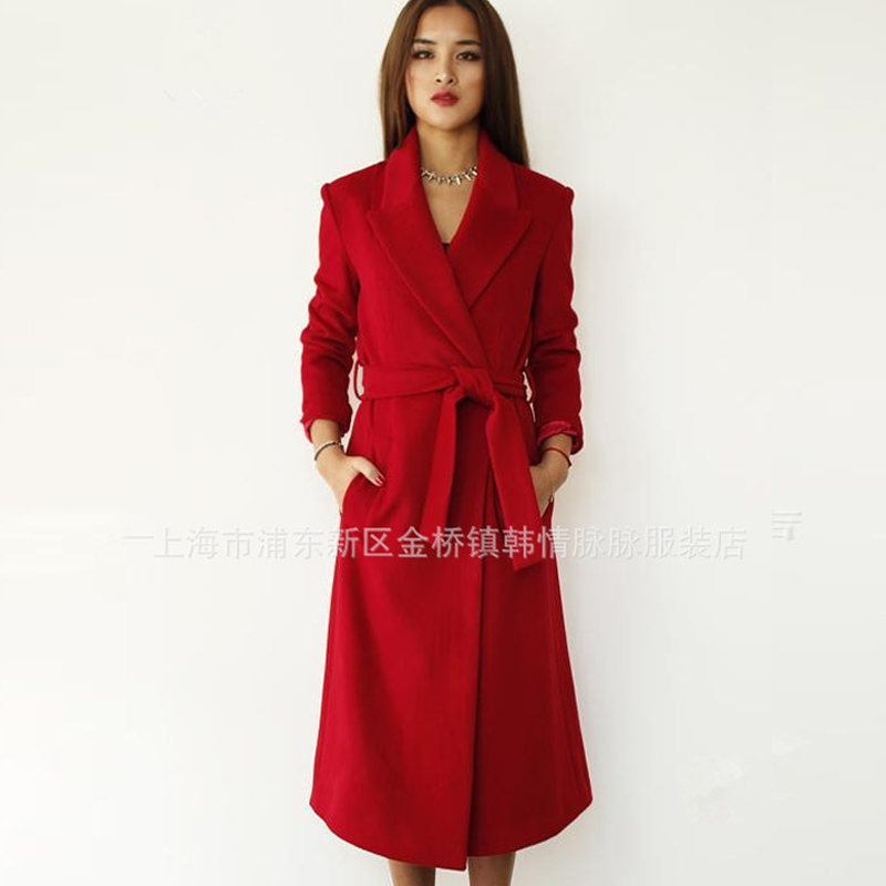 Popular Red Winter Wool Coat-Buy Cheap Red Winter Wool Coat lots ...
