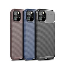 Business For iPhone 11 / Pro Max Case 6 7 8 Plus X XS XR Carbon Fiber Shockproof Soft Phone Funda