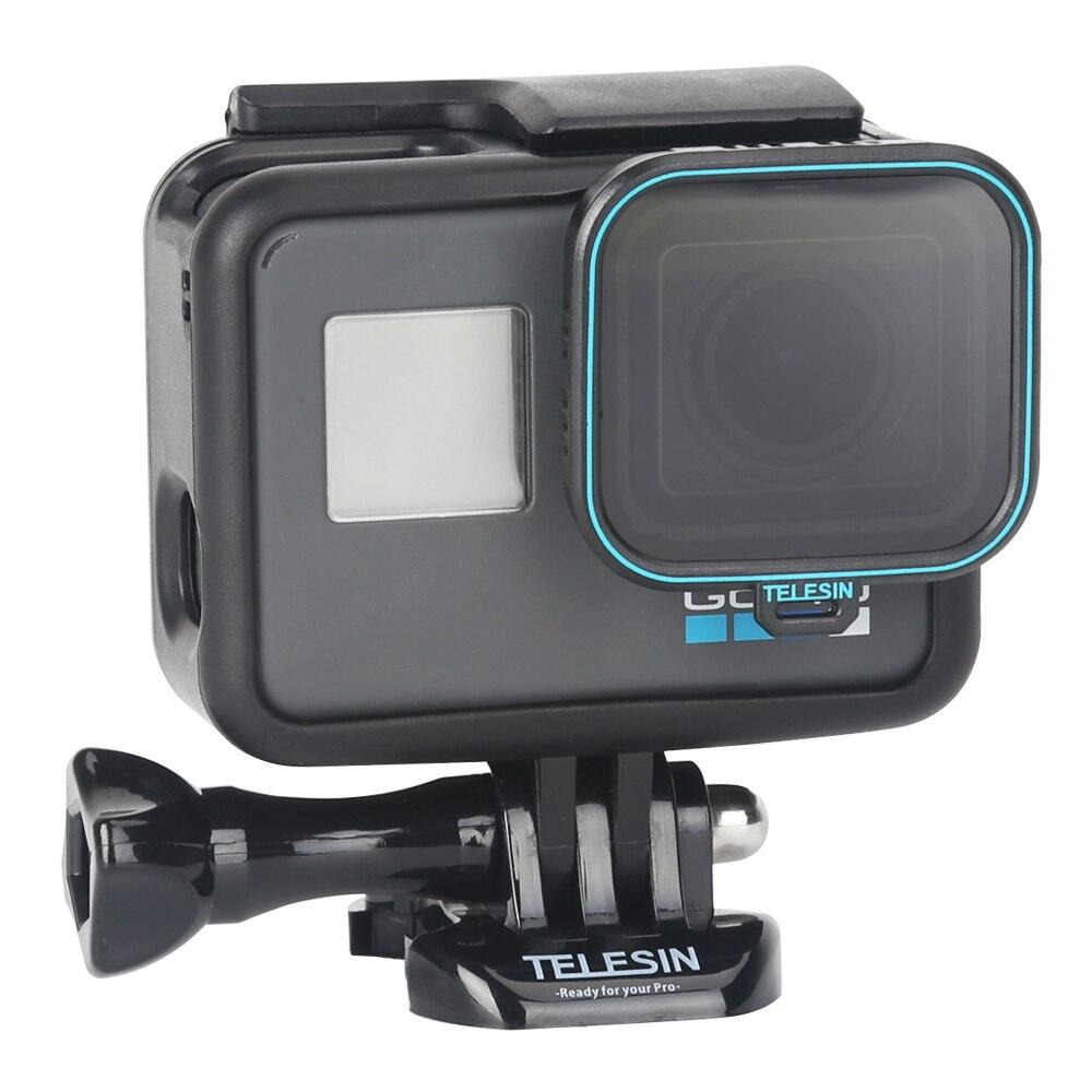 TELESIN CPL Polarisierende Polarisator Action Kamera Objektiv Filter ND4 ND8 ND16 Filter Objektiv Set für GoPro Hero 5 Hero 6 hero 7 (Schwarz)