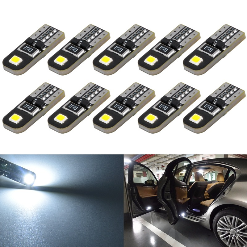 confezione da 10 KaTur T5/70/73/74/79/85/86/206/406/lampadine LED 5050/1SMD bianco 1/W 12/V auto interior Instrument cluster gauge LED luci cruscotto segnale lampadine LED