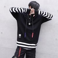 National Tide Hip Hop Tattoo Embroidery Korean Long Sleeve Pine Bf Harajuku Style Lover Men S
