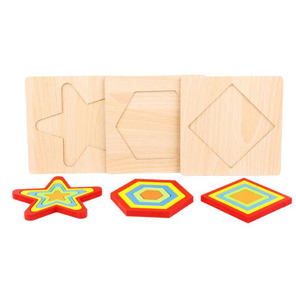 Image 5 - Shape Cognition Board Children's Geometry Jigsaw Puzzle Wooden Toys Kids Educational Toy Baby Cognition Learning Matching Toy-in Puzzles from Toys & Hobbies