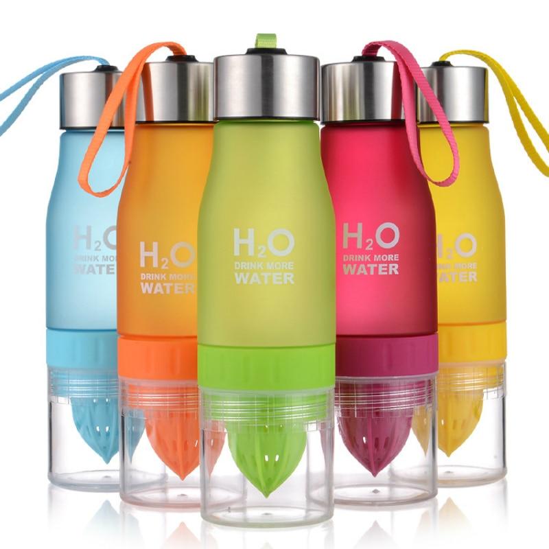 650ml Fruit infuser Water Bottle H2O Lemon Outdoor Sports My Shaker Bottle BPA Free drink bottle