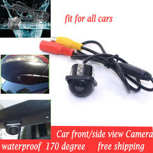 Mini CCD HD Night Vision 170 Degree Car Universal car Front Side view Side view Camera Waterproof Camera fit for all cars