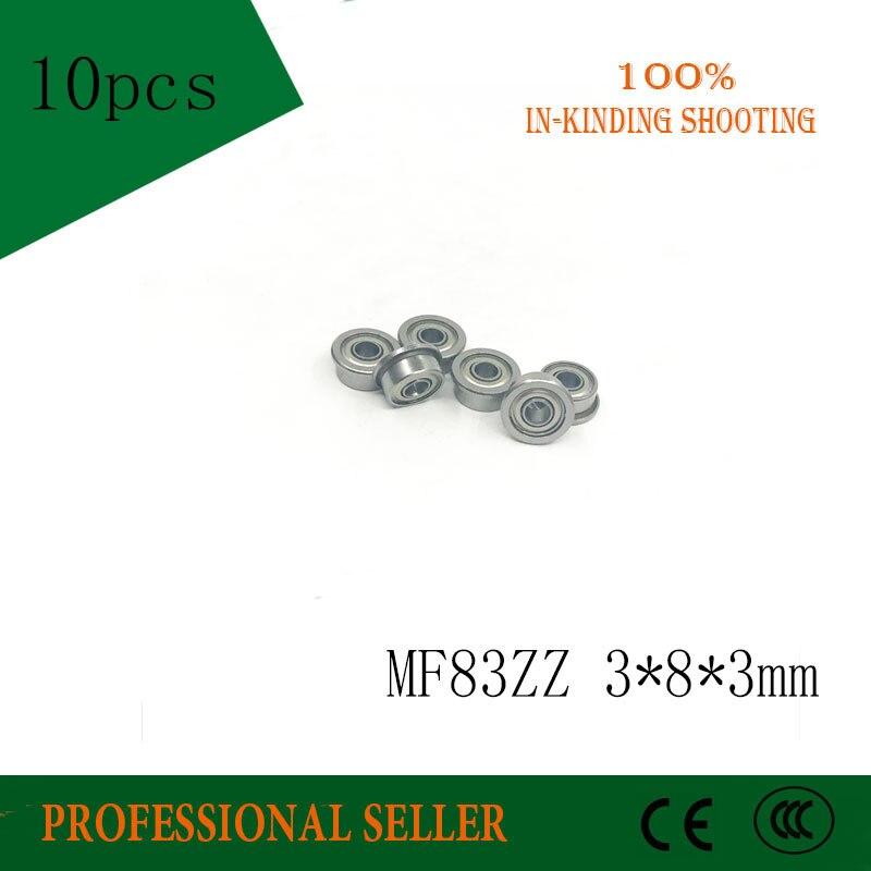 10pcs Flange Bearing 3x8x3mm Bearings MF83ZZ 3x8x3