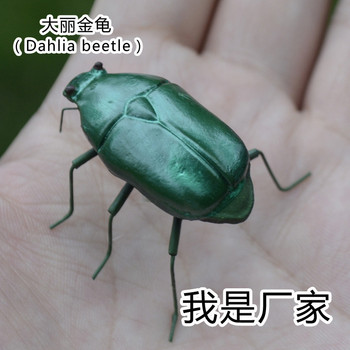 50pcs/ a lotFolk Art Clay Material Artificial Insect Model Crafts Handmade Solid Figure Dahlia beetle MM-015
