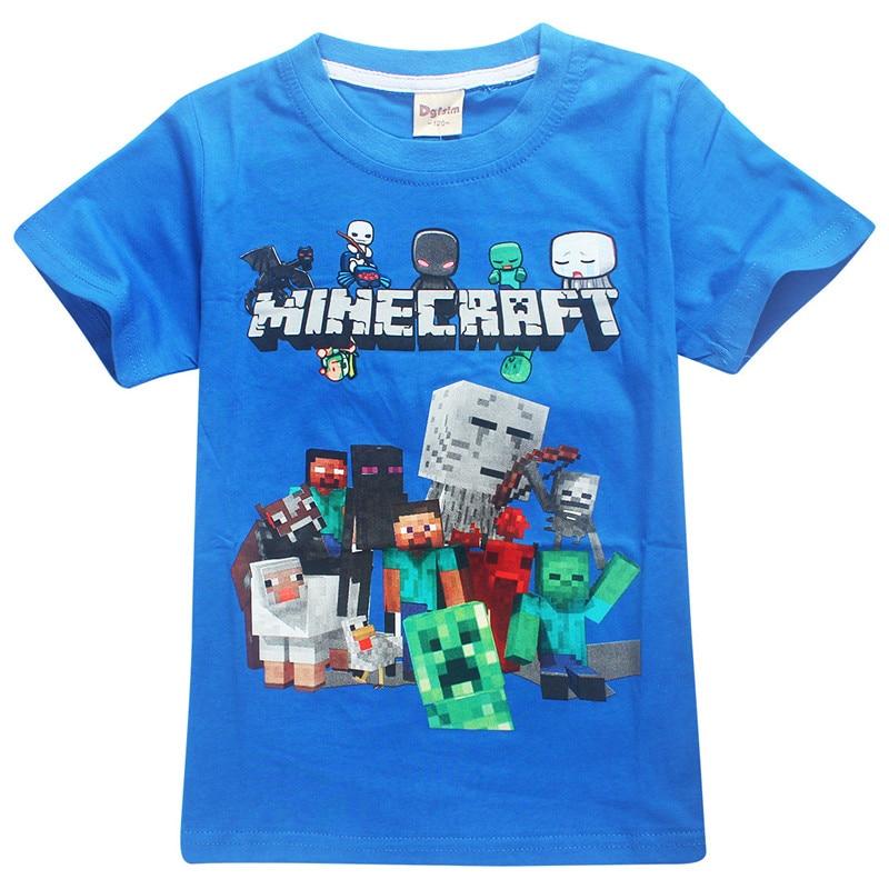 1fb9094775 Nagy fiú újév rajzfilm Minecraft nyomtatás póló a lányok tee felső ...
