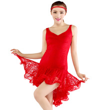 new lady girl latin salsa tango chacha ballroom dance dress  Leotard performance clothing lace dress square dance clothing