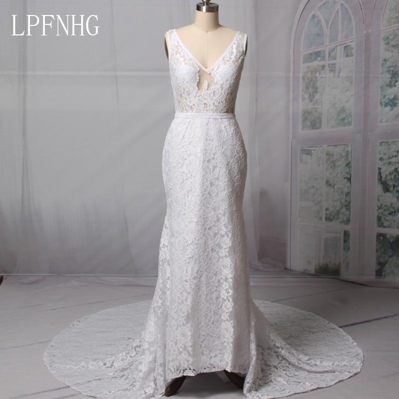 Vestidos De Noiva 2018 Nėriniai Mergaitė Vestuvinės Suknelės - Vestuvių suknelės