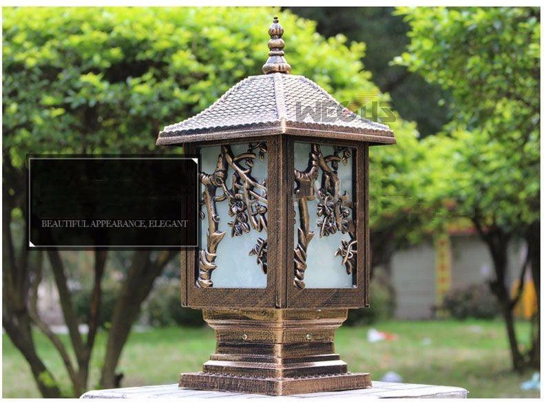 outdoor pillar lamps