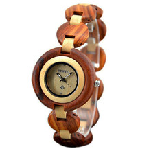 Madera Bewell Reloj de Señoras de La Manera Ocasional de Las Mujeres Elegantes Relojes de Cuarzo Reloj de Pulsera Relogio Feminino