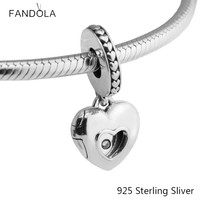 Beads Fits Pandora Bracelets 925 Sterling Silver Jewelry Heart 2017 Club Charm Diamond Original Fashon For