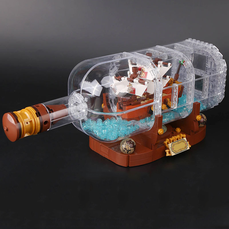 Lepin 16051 Movie IDEAS Series The Ship in A Bottle Building Blocks Bricks 21313 Legoed Blocks Toys Children Toys Birthday Gifts lepin 16051 1078pcs movie series the 21313 pirate ship in a bottle set building blocks bricks toys birthday gifts