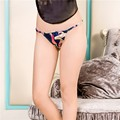 Fashion Sexy Female Silk 100% Silk Underwear Lady Thong T Pants Briefs Lace 2.