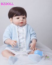 BZDOLL 55cm Full Body Silicone Reborn Baby Doll Toys Lifelike Play House Toy Newborn Boy Baby