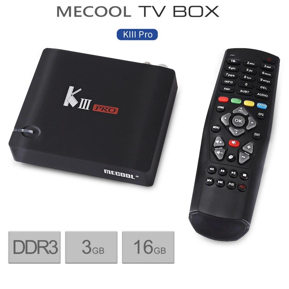 MECOOL KIII Pro Smart Android ТВ Box DVB T2 + S2 3g 16 г Amlogic S912 Octa Core 4 К декодирования 2,4 г + 5 г WiFi BT 4,0 Media Player