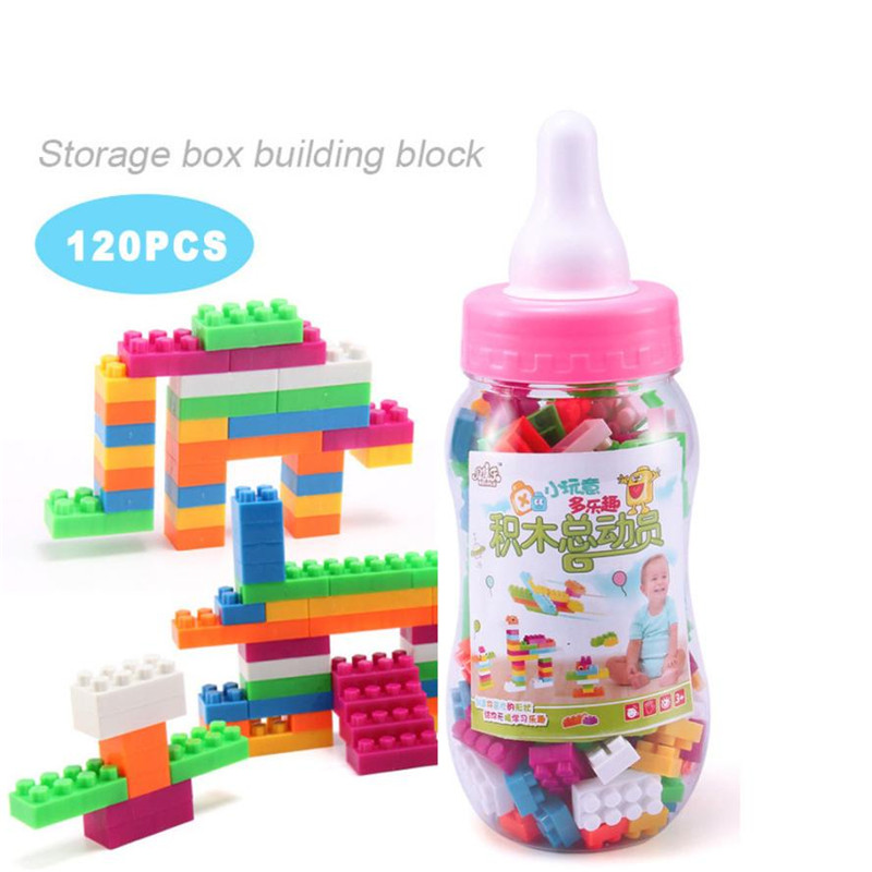 120PCS / 100pcs Toy Building Blocks Montessori Therapy Fine Motor Toy For Toddlers brinquedos toys for children 120pcs set rainbow colored educational montessori toy birthday gift for children block brinquedo wood domino blocks funny toys