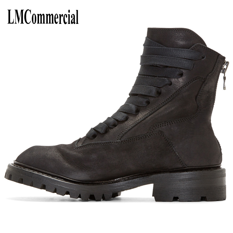new men leather boots Martin England head fashion lace zipper boots breathable fashion boots men casual shoes 2017 new autumn winter british retro men shoes zipper leather breathable sneaker fashion boots men casual shoes handmade