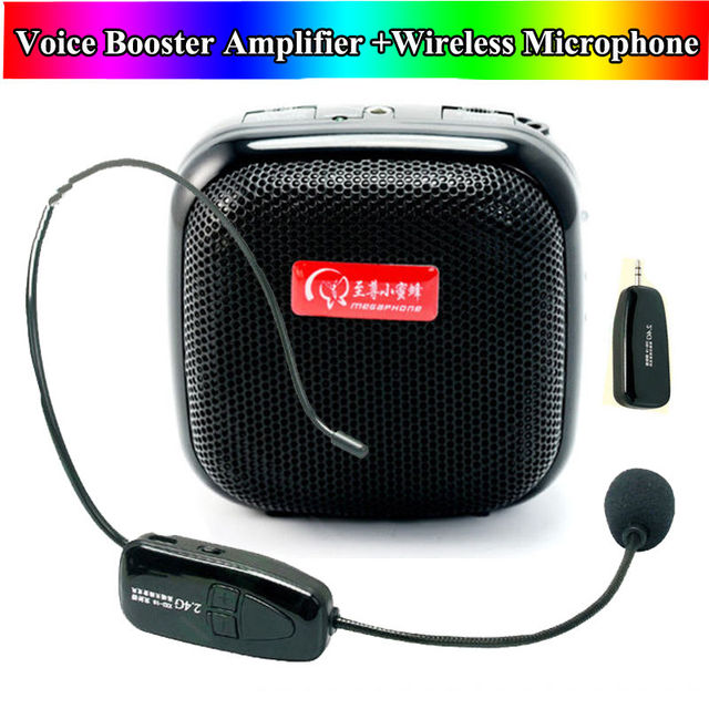 Free shipping!25W Mini Voice Booster PA Amplifier Speaker+2.4G Wireless Microphone For Teacher