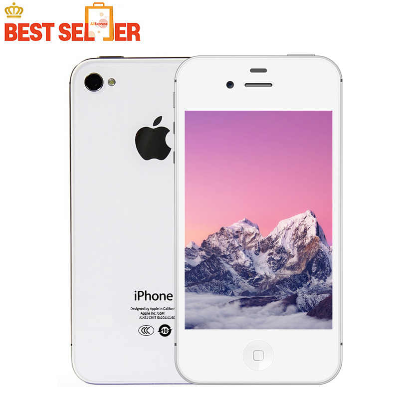 Apple iPhone 4S, Smartphones IOS 1080P Dual Core, 8MP WIFI 8GB/16GB/32GB/64GB ROM, Original Unlocked iPhone4s Apple A5 Cellphone(China)