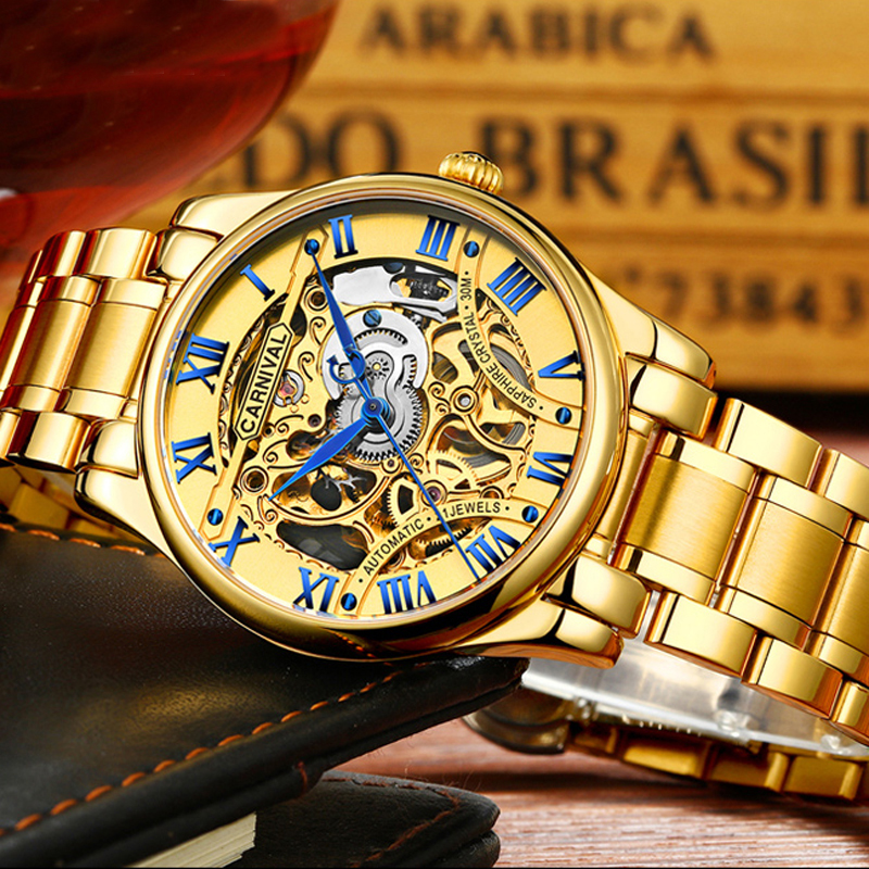 2016 New Gold Watches Luxury Classic Brand Men's Fashion Automatic Hollow Out Man Mechanical Watches Waches relogio masculino 2016 new gold watches winner luxury brand men s fashion automatic hollow out man mechanical watches waches relogio masculino