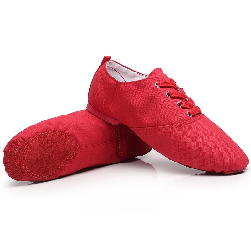 Jazzschoenen Dames Low Fitness Balletschoenen Ballet Meisje Dansschoenen Canvas Kungfu Schoenen Dames Volwassen Lage Bovenste Zachte Bodem