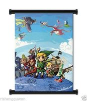 Japan Anime Home Decor Poster Legend of Zelda Wind Waker Game Fabric Wall Scroll 60x80cm
