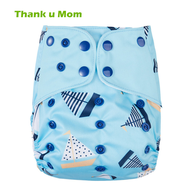 Thank u Mom Washable Cloth Diaper Cover PUL Fabric Reusable Baby Nappies One Size Fit All Pocket Diaper 0-2years 3-15kg baby [mumsbest] new design baby cloth diaper with microfiber insert waterproof pul digital position reusable pocket cloth nappies