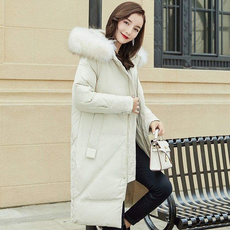 Blanc Simple Banlieue Le Duvet Long Mince D'hiver De Argyle Manteau Épais Noble Et Bas black Veste Ol Beige Vêtements Canard Vers Femmes qSIwqt