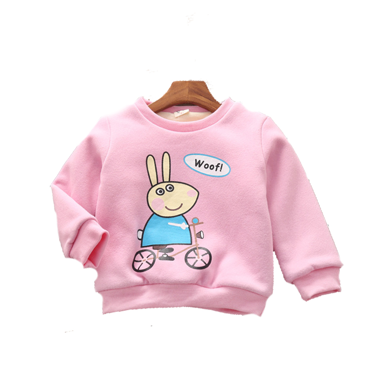 Girls sweater 2016 New kids t shirts winter girls clothes warmn full sleeve girls t shirts children 's clothing
