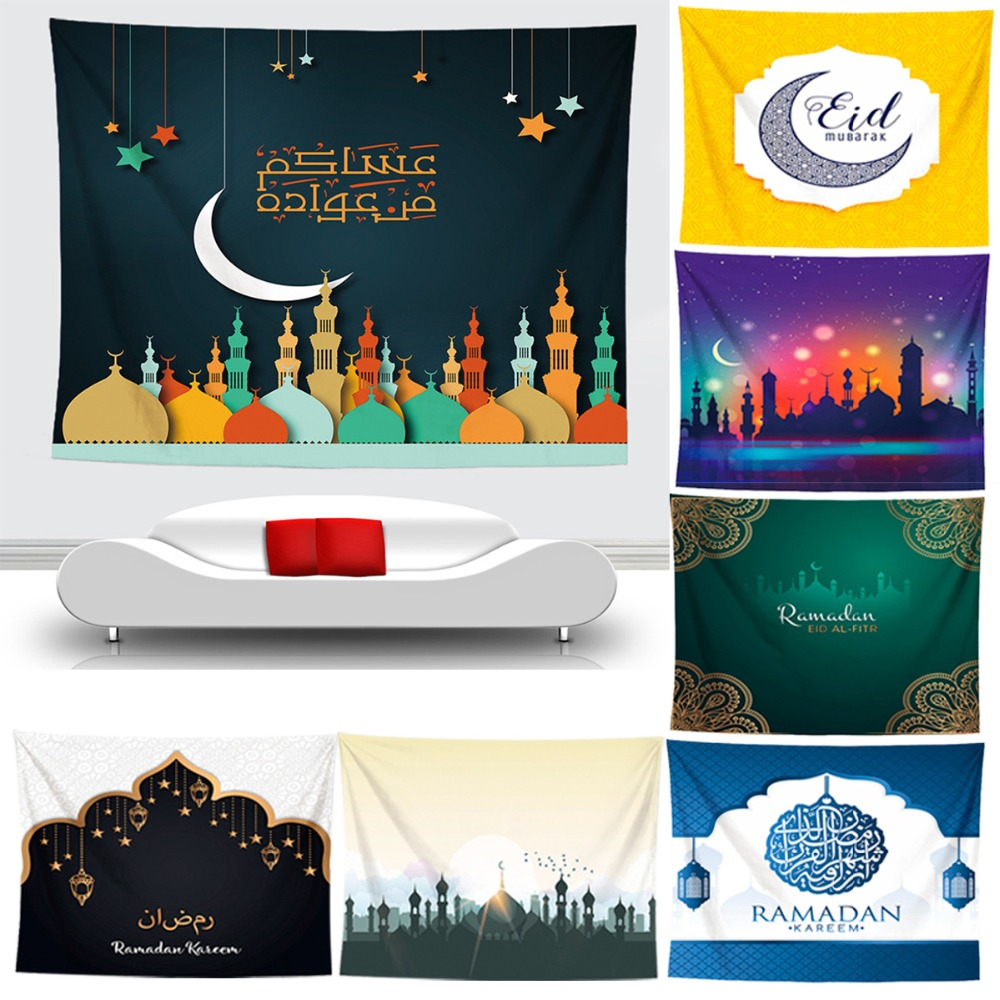 FENGRISE 1PC Tapestry Ramadan Decoration For Home EID Mubarak Decor Islamic Muslim Festive Party Supply Event Party Decor FavorFENGRISE 1PC Tapestry Ramadan Decoration For Home EID Mubarak Decor Islamic Muslim Festive Party Supply Event Party Decor Favor