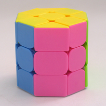 купить QIYI Octagon Cylinder Cube Stickerless Cube Speed Twist Puzzle Educational Toys Cubo Magico Toys For Children Kids по цене 259.87 рублей