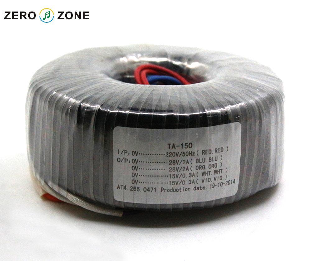GZLOZONE TA-150 de 150 W Transformateur Toroïdal 150VA Double 28 V + Double 15 V Transformateur D'alimentation