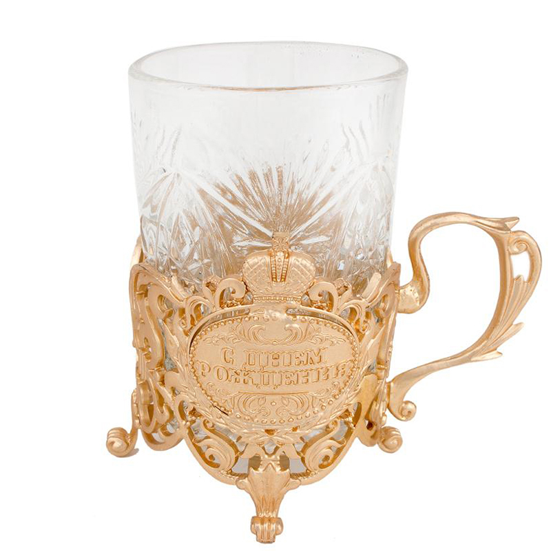 1 Set fashion household cups stand metal drink tea Cup Saucers imperial gold tea set gift