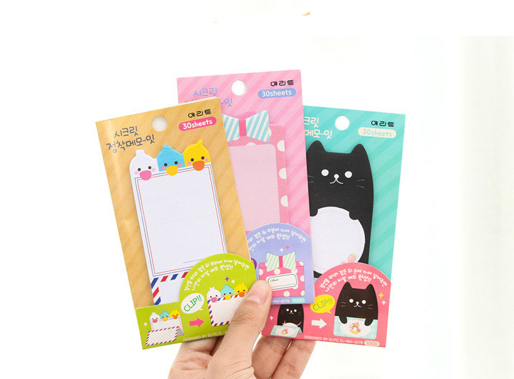 Cute cartoon animal Self-Adhesive Memo Pad Sticky Notes Post It bookmark Gift Stationery school office supply Escolar Papelaria