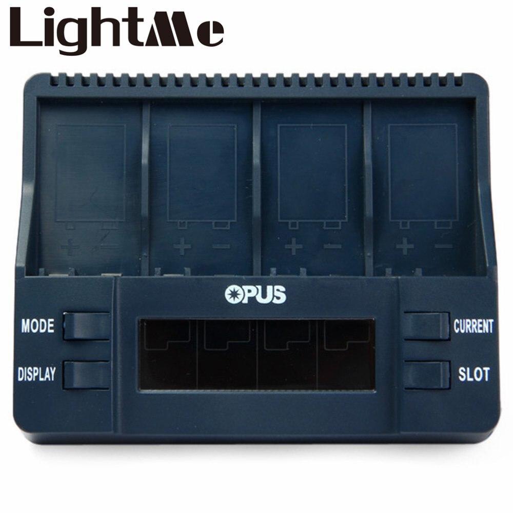 2016 High Quality Opus BT - C900 Mini USB Universal Battery Charger Digital 4 Slots LCD 9V Li-ion NiMh Batteries EU Plug Charger стоимость