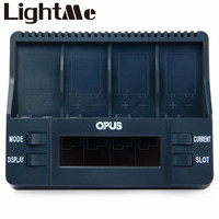 2016 High Quality Opus BT C900 Mini USB Universal Battery Charger Digital 4 Slots LCD 9V
