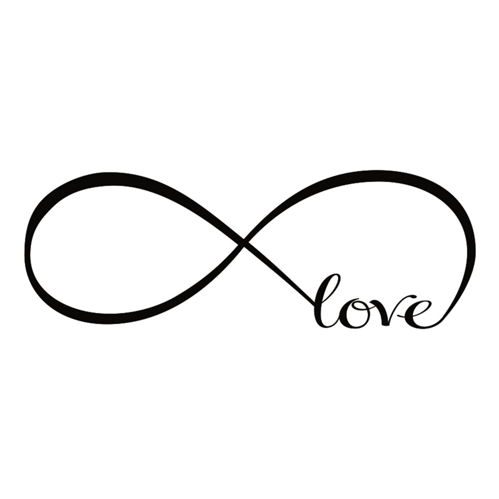 Pvc infinity symbol love art wall stickers bedroom wall decal pvc infinity symbol love art wall stickers bedroom wall decal removable black color size s m l 1pcs newest 2016 in wall stickers from home garden on buycottarizona Image collections