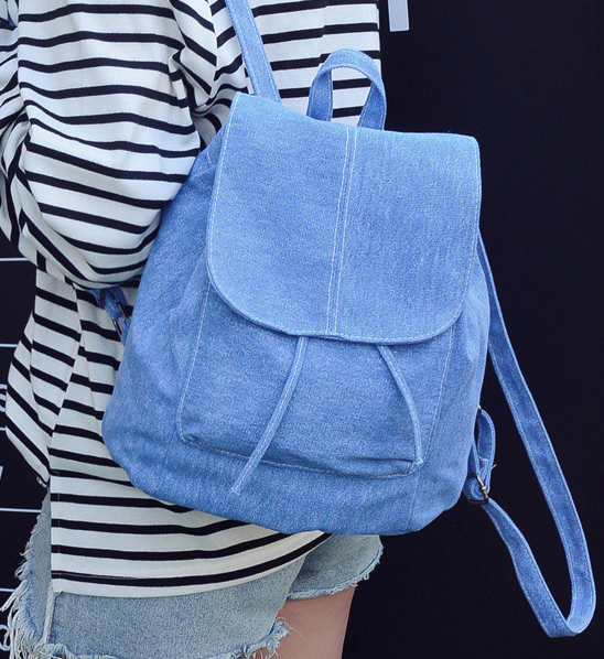 2018 New Denim Canvas Women Backpack Drawstring School Bags For Teenagers Girls Small Backpack Female Rucksack Mochilas Feminina 2017 new women printing backpack canvas school bags for teenagers shoulder bag travel bagpack rucksack bolsas mochilas femininas