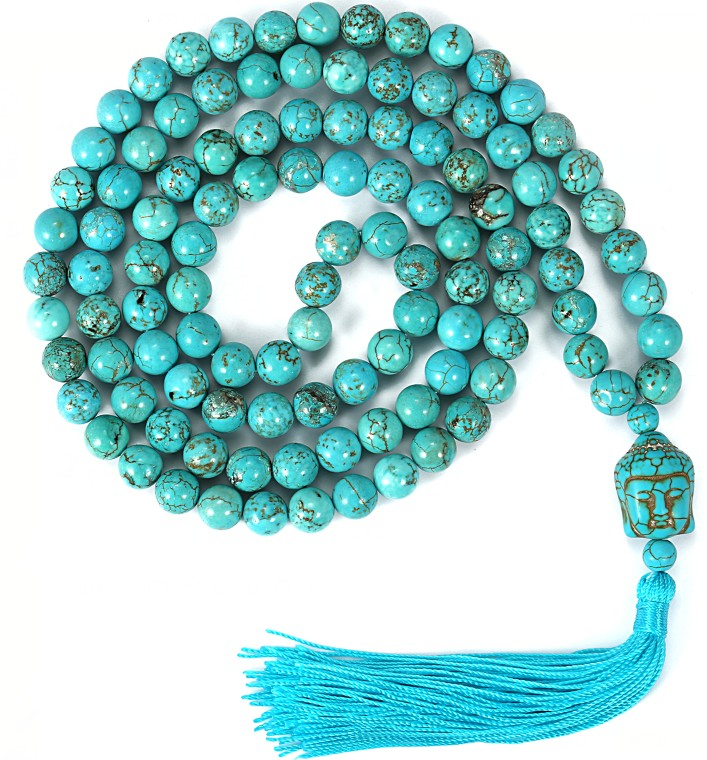 108 Japa Mala necklace 8 mm natural stone prayer beaded