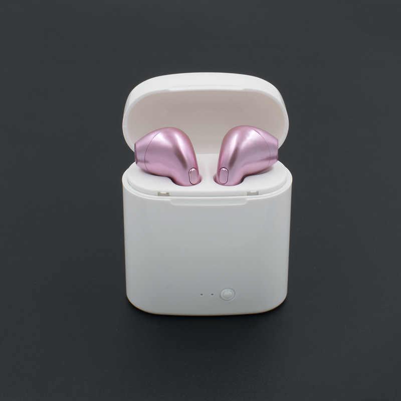 ミニ i7 双子 Bluetooth イヤホンワイヤレスイヤフォンポータブルヘッドセット電話イヤホンマイクでハンズフリー ios の android 携帯