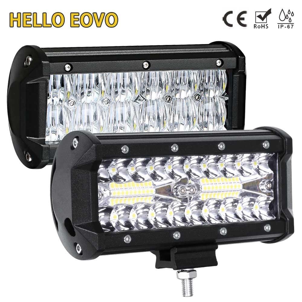 BONJOUR EOVO LED Bar 7 pouce LED Light Bar lampe de Travail pour Conduite Offroad Bateau De Voiture Tracteur Camion 4x4 SUV ATV 12 v 24 v Hors Route