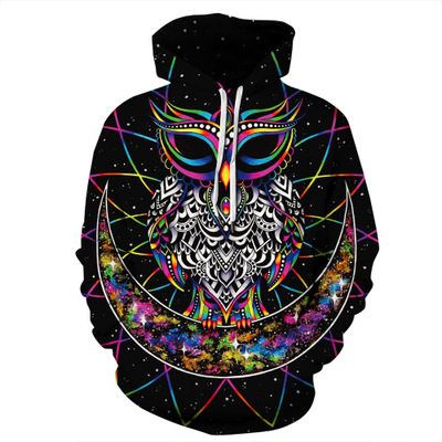 Colored Owl Hoodies Men Women Fashion Autumn Winter Pullover Hoody Tops Polerones Hombre Casual Hip Hop 3D Hooded Sweatshirt