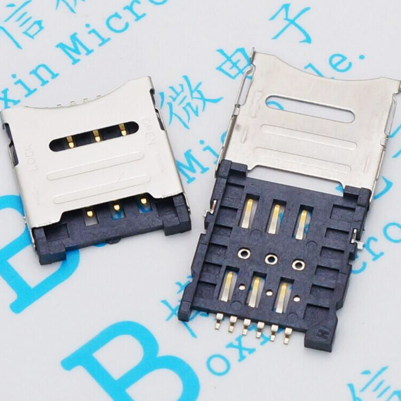 3000PCS Micro SIM Card Holder 6P SIM Card Slot 6PIN Card Slot SIM Card Holder