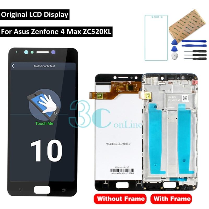 Original for Zenfone 4 Max ZC520K LCD Display Touch Screen Frame 5 2 for Zenfone4 Max
