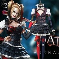 Batman Arkham Asylum City Harley Quinn Cosplay Costume Halloween Suicide Squad Harley Quinn Cosplay Costume