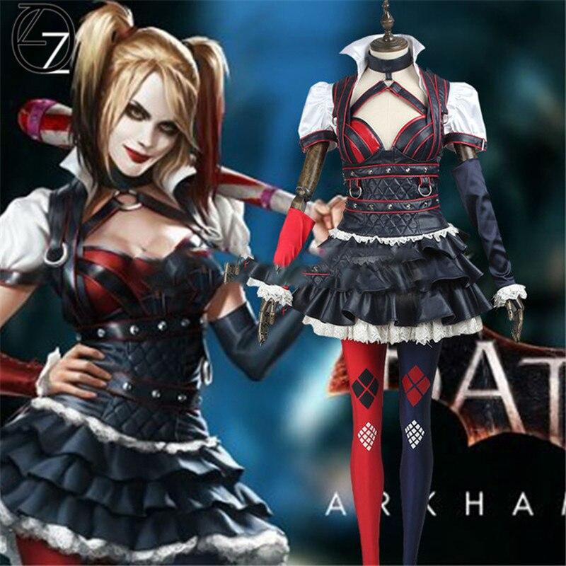 Batman Arkham asile ville Harley Quinn Cosplay Costume Halloween Suicide Squad Harley Quinn Cosplay Costume