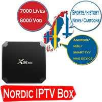 World Europe IPTV X96mini Android 7.1 TV BOX with 9000 Lives Nordic Scandinavian Sweden Switzerland Dutch IPTV Smart tv box