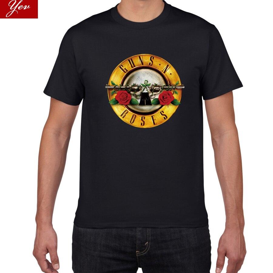 2019 Rock Wear GUNS And Roses T-shirts Men Summer 100%Cotton Rock Band Street Wear Men T Shirt Guns Roses Tee Shirt Homme Men