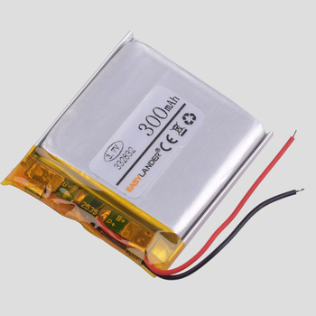 332832 3.7V 300MAH lithium polymer battery GPS Driving car dvr recorder MP3 player MP4 MP5 image